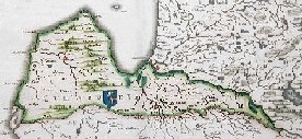 Map of Duchy of Courland c. 1600