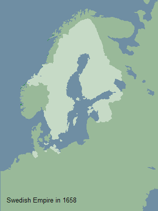 Swedish Empire in 1658