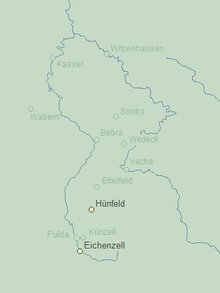 Witzel Towns Map